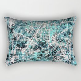 Triple X in Turquoise Rectangular Pillow