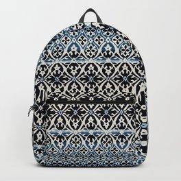 N5 | Vintage Anthropologie Moroccan Indigo Artwork. Backpack