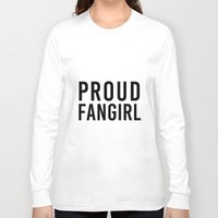 fangirl Long Sleeve T-shirts featuring FANGIRL by The Fandom Designs