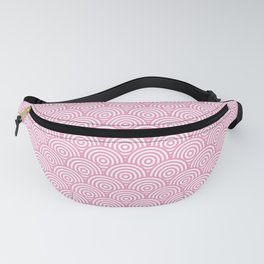 Light Pink Concentric Circle Pattern Fanny Pack