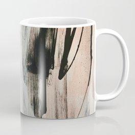 Sweet Tart [2]: a minimal abstract mixed-media piece in pink black and white by Alyssa Hamilton Art Coffee Mug