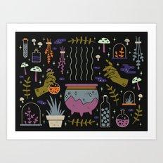 Spooky Horoscopes: Taurus Art Print