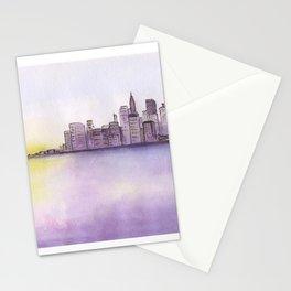 City sunset. Stationery Cards