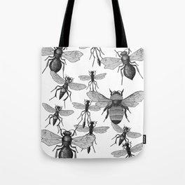 Bees and wasp Flying Tote Bag