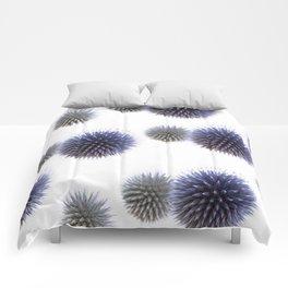 Echinops - Globe Thistles Pattern #1 #floral #decor #art #society6 Comforters