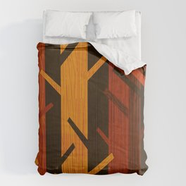 Retro Fall Woods by Friztin Comforters