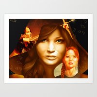 mockingjay Art Prints featuring Mockingjay by drawingsbyignacio