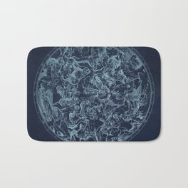 Vintage Constellation & Astrological Signs Bath Mat
