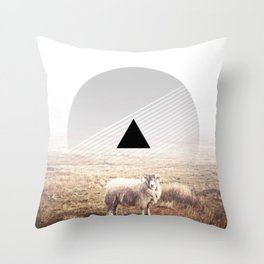 Sheep - triangle graphic Throw Pillow
