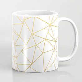 Ab Outline White Gold Coffee Mug