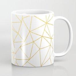 Ab Outline White Gold Coffee Mug