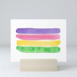 Painted Sapphic Flag Mini Art Print