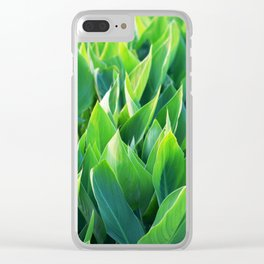 Green leaves so beautiful. Clear iPhone Case