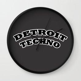 Detroit Techno Wall Clock