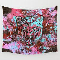 panther Wall Tapestries featuring Panther Style. by ADIDA FALLEN ANGEL