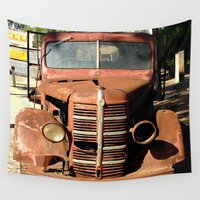 truck Wall Tapestries featuring One Eyed Bedford Truck by Chris' Landscape Images & Designs