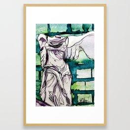 Winged Victory of Samothrace Framed Art Print