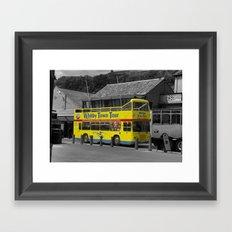 Whitby Town Tour Bus Framed Art Print