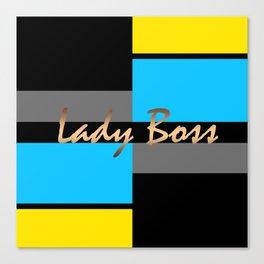 Lady Boss , turquoise ,lemon Canvas Print
