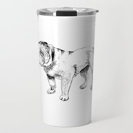 Bulldog Ink Drawing Travel Mug
