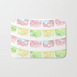 Pastel Watercolor Papel Picado Bath Mat