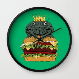 King of Burgers Green Wall Clock