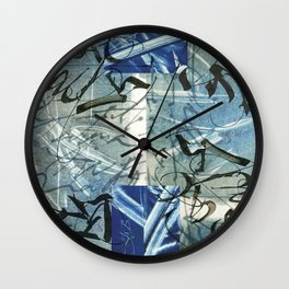 Abstract calligraphy Wall Clock