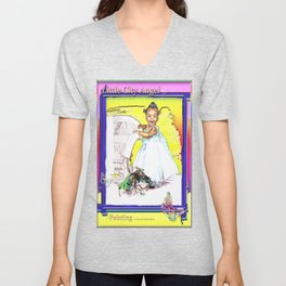 LITTLE CITY ANGEL Unisex V-Neck