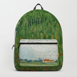 "Vincent Van Gogh ""Field with Poppies"" Backpack"