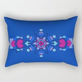 Mystic Dragon Heart - Blue Rectangular Pillow