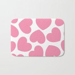 Pink Hearts Bath Mat
