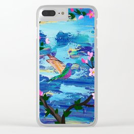 Hummingbird Spirit Clear iPhone Case