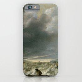 """Simon de Vlieger """"Ship in Distress off a Rocky Coast"""" iPhone Case"""