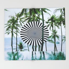 Tropical Trance Throw Blanket