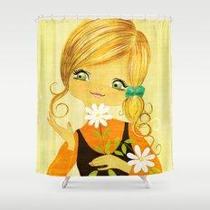 Sunshine Flower Girl Shower Curtain