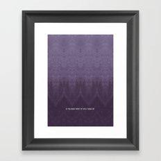 Purple Ombre Framed Art Print