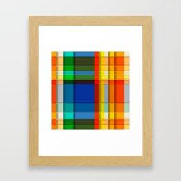 rectangle layers Framed Art Print