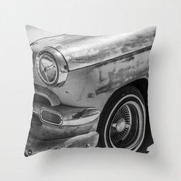 Sun Bleached Classic Car Throw Pillow