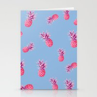pinapple Stationery Cards featuring Super Fresh by Galaxy Eyes