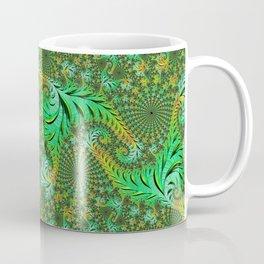 Green Fractal Coffee Mug