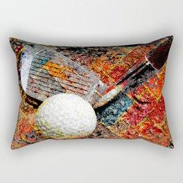 Golf art print work 16 Rectangular Pillow