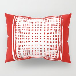 screen, white on red Pillow Sham