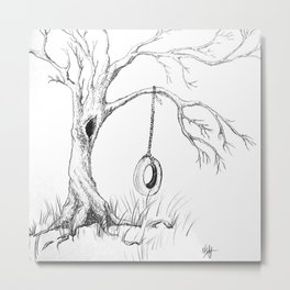 Tire Swing Memories Metal Print