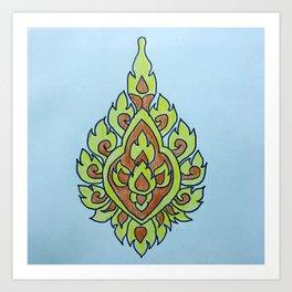 Bloemen voor bhoeda Art Print