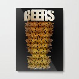 Beers types Metal Print