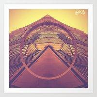 Abstract Architecture prints by KIIRAVA Art Print