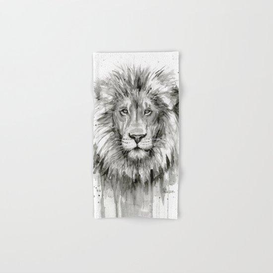 Lion Watercolor Animal Hand & Bath Towel