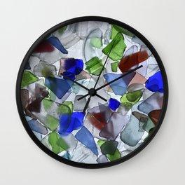 Beach Glass Wall Clock