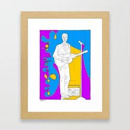 David Byrne in Stop Making Sense by Aaron Bir Framed Art Print