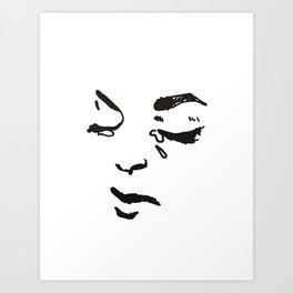 Sad Babe Detail Art Print